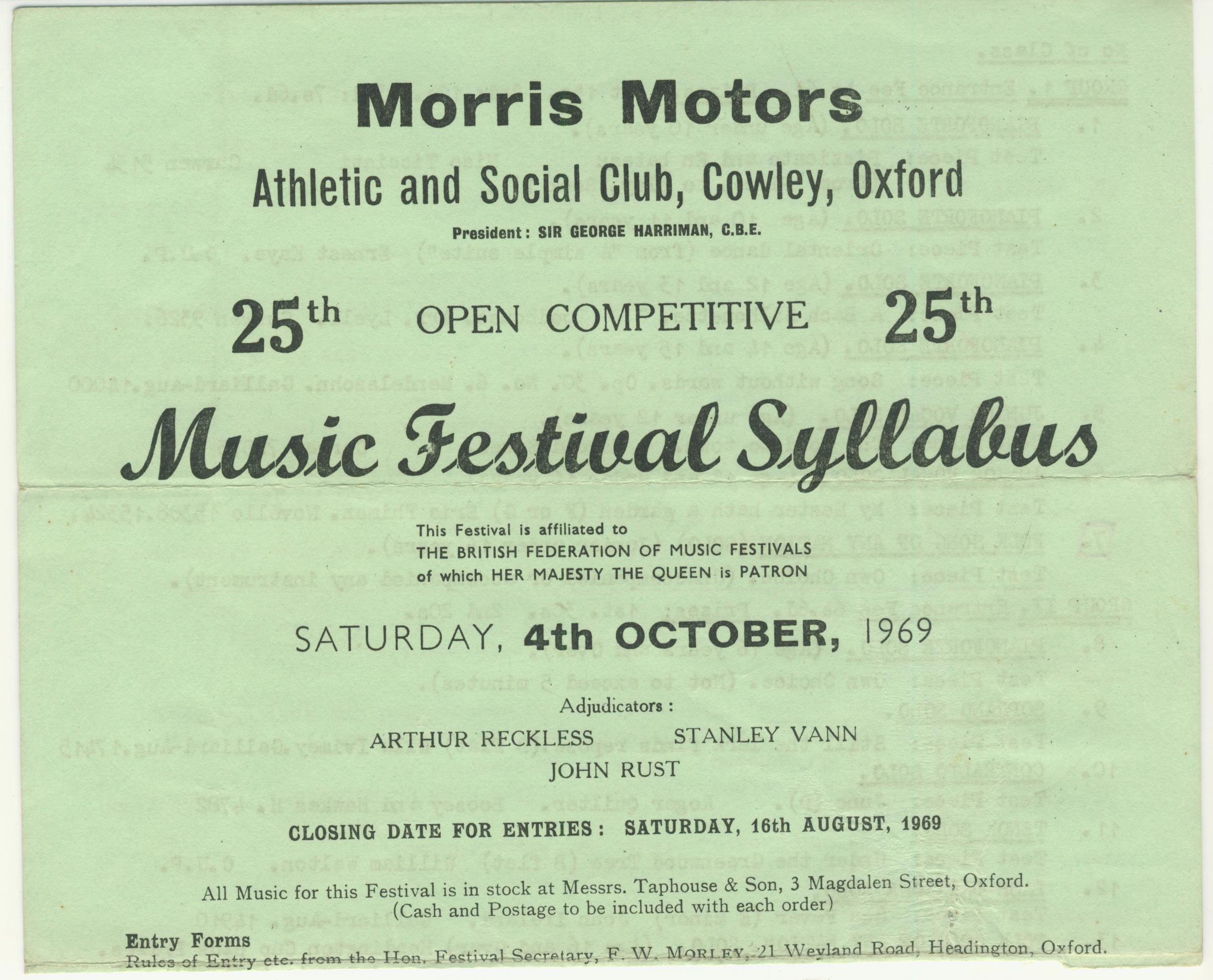 The first festival I entered as a kid.